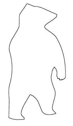 Standing Bear Craft Pattern