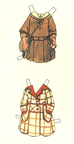 Vintage clothes for paper dolls