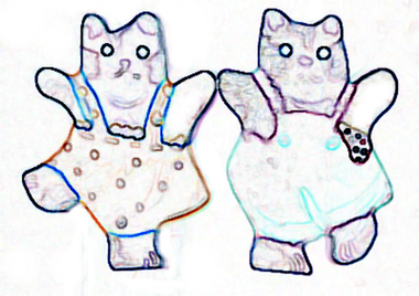 Dancing cat craft pattern