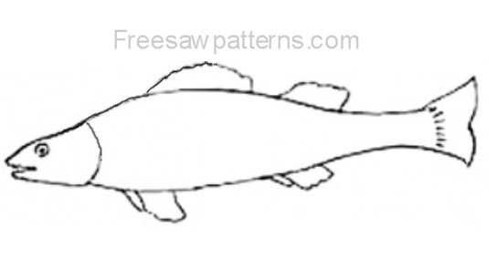 fish craft pattern