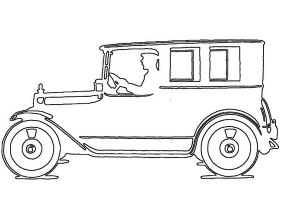Antique Car Side View Craft Pattern