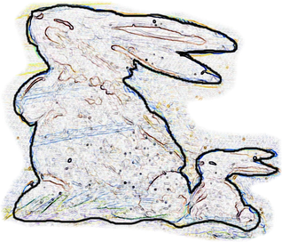 Bunny Craft Pattern outline