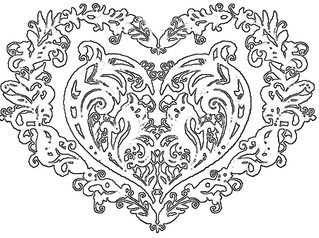 Fancy Scroll Saw Heart Pattern