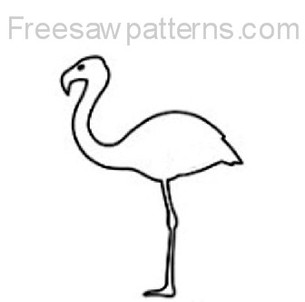 flamingo craft pattern