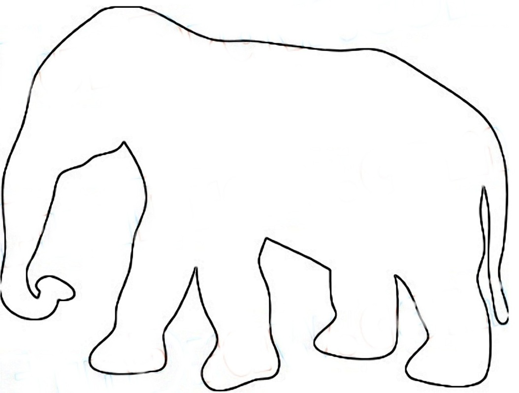 elephant craft pattern