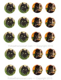 free printable cat cup cake toppers