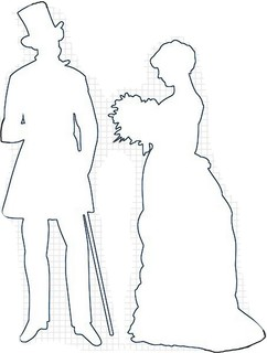 Victorian couple craft pattern