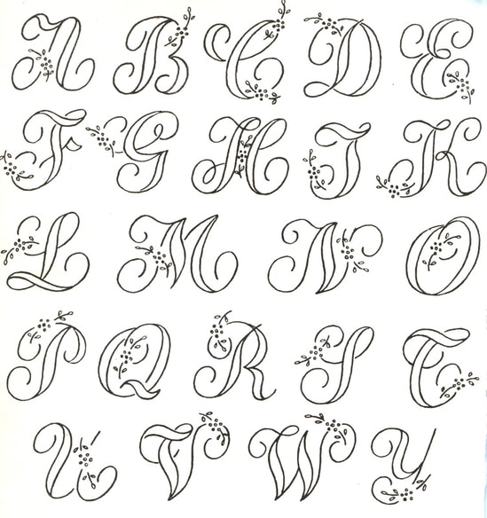 Alphabet Embroidery pattern